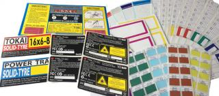 สติกเกอร์บาร์โค้ด Inkjet Label ทุกๆชนิด Label Heat Chemical resistant labels Anti statics labels Food packaging compliant labels THT Printer Scanner and Ribbon Thermal transfer printer Black  Colour Ribbon Barcode scanner  Precision die-cut Surface protec